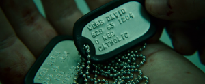 Jason Bourne / David Webb military identification tag